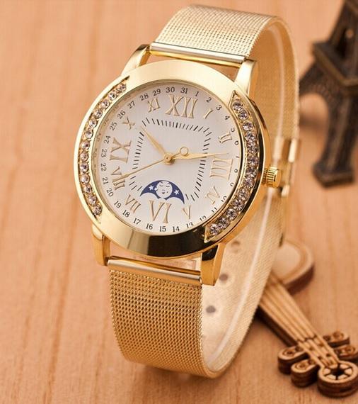 Zlaté dámske hodinky Golda 2e681de73e2